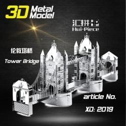 3D Pussel Metall - Berömda Byggnader - London Tower Bridge