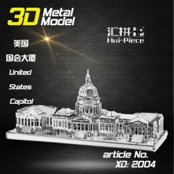 3D Pussel Metall - Berömda Byggnader - United States Capitol