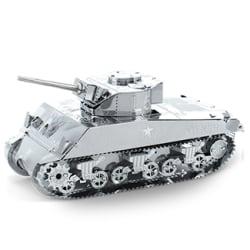 3D Pussel Metall - berömda fordon - M4 Sherman Stridsvagn