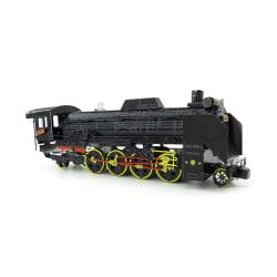 3D Pussel Metall - Berömda fordon - Tåg D51 Lok Färg Svart