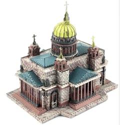 3D Pussel Metall - Berörmda byggnader - Isakskatedralen färg