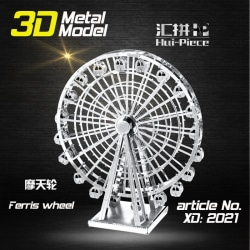 3D Pussel Metall - Byggnader - Ferris Wheel