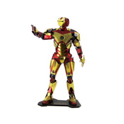 3D Pussel Metall - IronMan Deluxe i färg