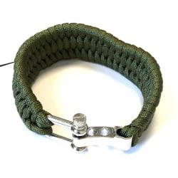 Armband av Paracord - grön grön