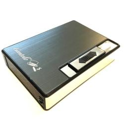 Återfyllningsbar tändare och cigarettväska för 10 cigaretter