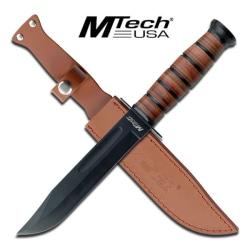"MTech USA MT-122 FIXED BLADE KNIFE 12"" OVERALL Brun"
