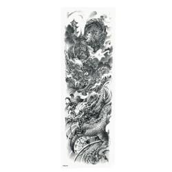 OBS! SE STORLEK! Tillfällig Tatuering - 46x17cm drakar