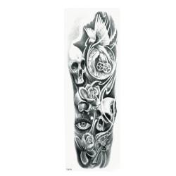 OBS STORLEK - 46 x 17 CM - Tatuering - dödskalle fredsduva