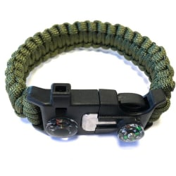 Paracord Armband kraftigt utförande grön