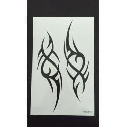 Tillfällig Tatuering 19 x 12 cm - 2 Tribal