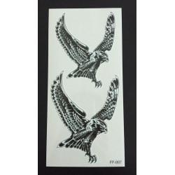 Tillfällig Tatuering 19 x 9cm - 2 örnar
