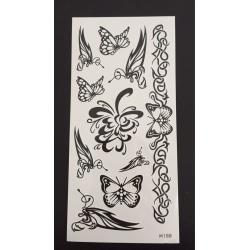 Tillfällig Tatuering 19 x 9cm - fjärilar