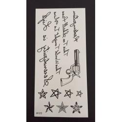 Tillfällig Tatuering 19 x 9cm - revolver mm