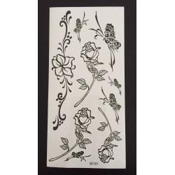 Tillfällig Tatuering 19 x 9cm - rosor