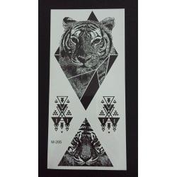 Tillfällig Tatuering 19 x 9cm - tigrar