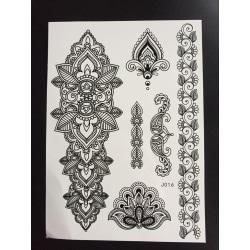 Tillfällig Tatuering 21 x 15cm - armband mönster