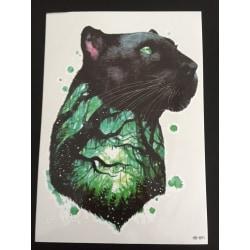 Tillfällig Tatuering 21 x 15cm - Panther