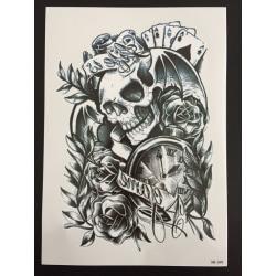 Tillfällig Tatuering 21 x 15cm - Skull