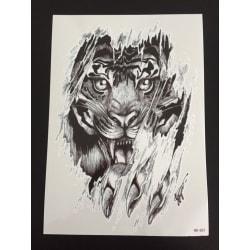 Tillfällig Tatuering 21 x 15cm - tiger