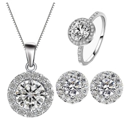 Vackert set matchande örhängen, halsband och ring #6