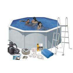 Pool Basic 120 Ø350 cm Vit
