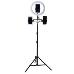 "10"" LED Ring Light Tripod Stand 1.6M Adjustable Live Holder As pics"