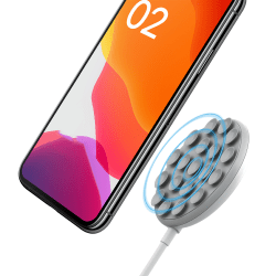 10W Suction Cup Fast Charging QI Wireless Charger Pad Dock White