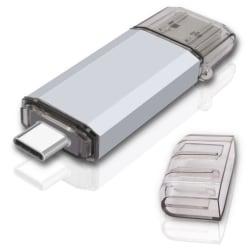 2 in 1 Adapter Type-C Flash Pen Stick OTG USB Flash Drive U Disk 128G