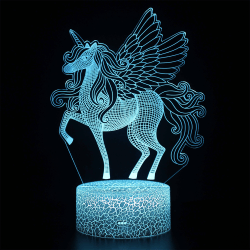 3D Lamp LED UNICORN 7 Colour Night Light Touch Table
