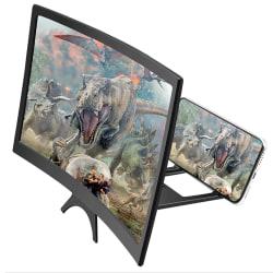 3D mobiltelefon krökt skärmförstoringsglas HD 12 inch