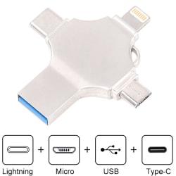 4 in 1 Adapter Type-C Flash USB Storage Memory Drive U Disk 64G