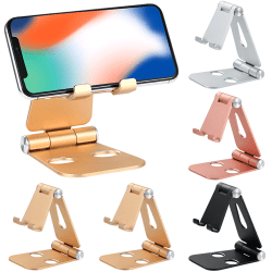 Aluminum Alloy Desktop Phone Holder Portable Strong Bearing Black