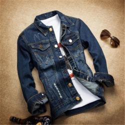 Autumn New Style Men Slim Denim Jacket blue XL