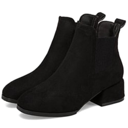 Autumn Shoes Women Ankle Boots Suede Boots black 39