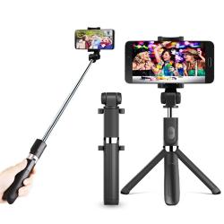 Bluetooth Tripod Selfie Stick 3-in-1 Phone Photo Selfie Stick