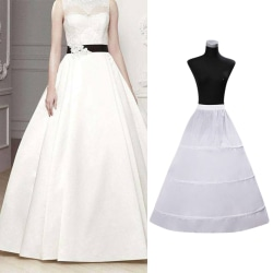 Bridal Petticoat Wedding Dresses Skirt Fullness 3-Hoop Crinoline
