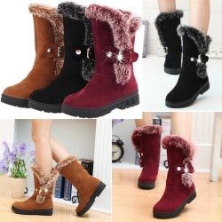 Casual Thicken Fur High Heel Vintage Heel black 38