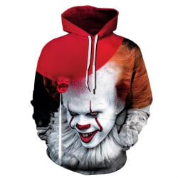 Christmas Blouse Clown Murderous 3D Digital Printing red&white XL