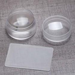Klar silikon Nail Art Stamping Kit Set Transfer Stamper