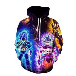 Dragon Boll 3D Print Unisex Hoodies Long Sleeve Sweatershirt Yellow M