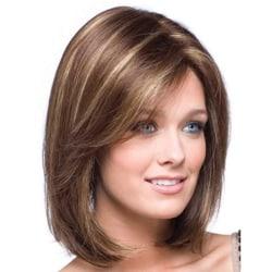 Fashion Short Straight Wigs Human Hair Pixie Cut brown
