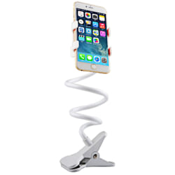 Flexible Lazy Mobile Phone Bracket Bed Desktop 360 Adjustable White