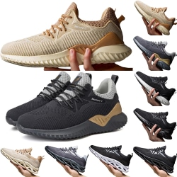 High Quality Male Comfortable Breathable Sports Shoes Casual black&white 42