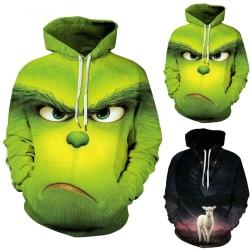 Mens Womens Kids The Grinch Hoodie Sweatshirt Jumper Coat green XL