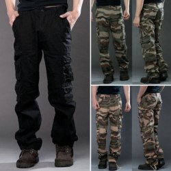 Joggers Cargo Pants Men Camouflage black 29