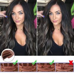 Ladies Curly Hair Black Long Wavy Wigs Black