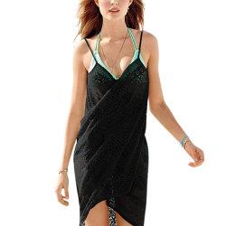 Damer Söt Sexig Sling Jacquardblus Ljus Cool Beach Wear Black One size
