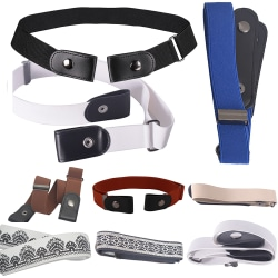 Ladies Fashion Elastic Invisible Elastic Adjustable Belts Black