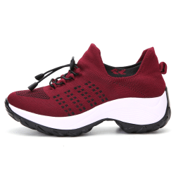 Ladies Thick Sneakers Casual Running Sport Shoes Red 40
