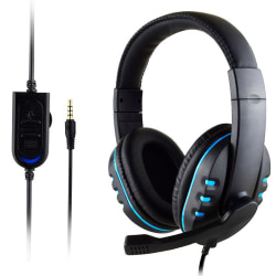 Laptop Phone Game Computer Headsets Black Blue
